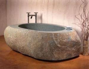Преимущества каменных ванн